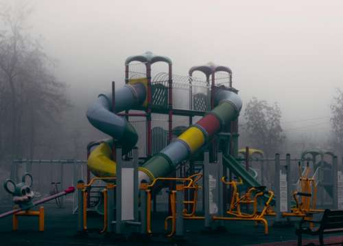 playground play structure park slides fun