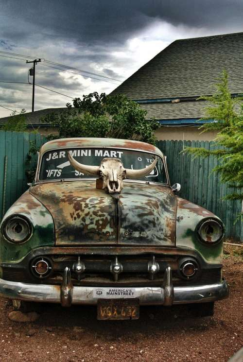 vintage car automobile automotive abandoned