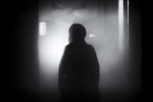 people shadow dark night smoke