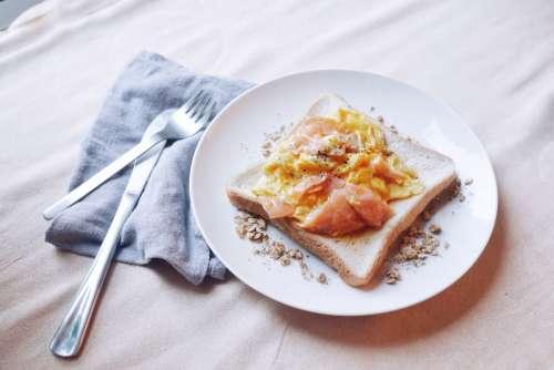 breakfast smokedsalmon salmon brunch toast