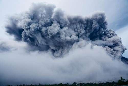volcano explosion nature eruption smoke