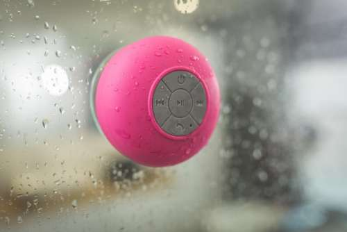 pink bluetooth speaker electronic technology