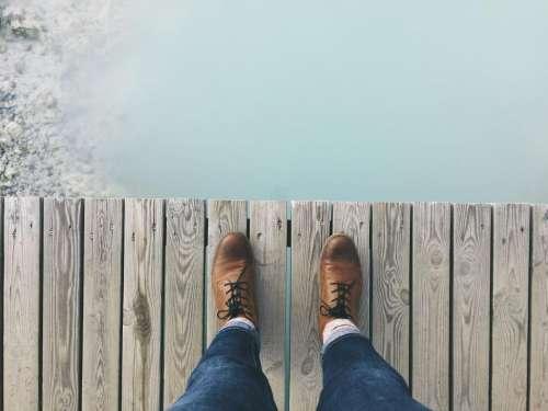 shoes knot footwear wooden floor