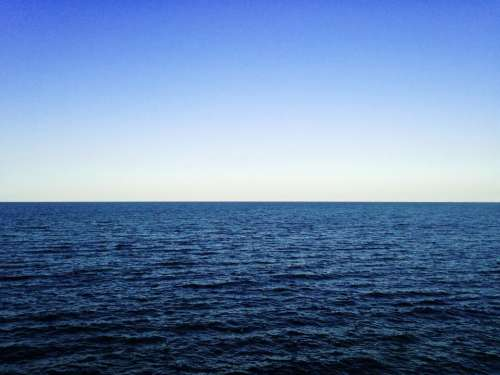 blue sky water ocean sea