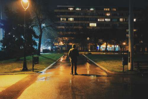 person outdoor night park dark