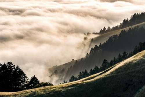 nature landscape mountain trees travel