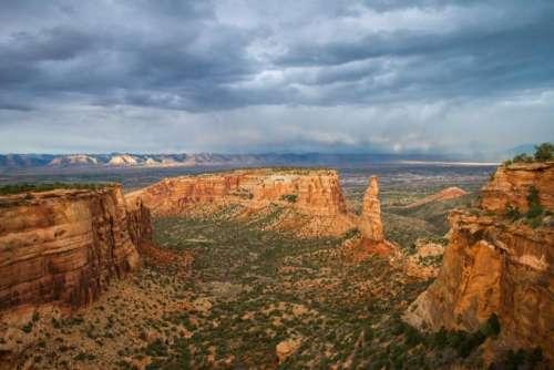 clouds sky landscape canyon monument