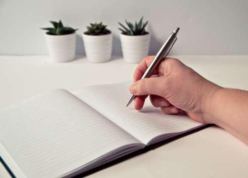 write desk minimal notepad notebook