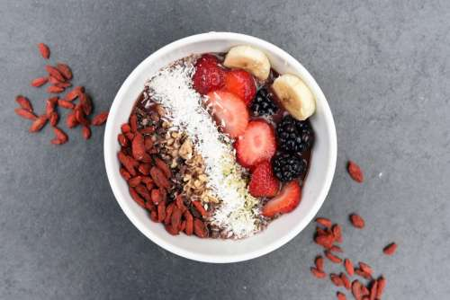fruits food snack breakfast bowl