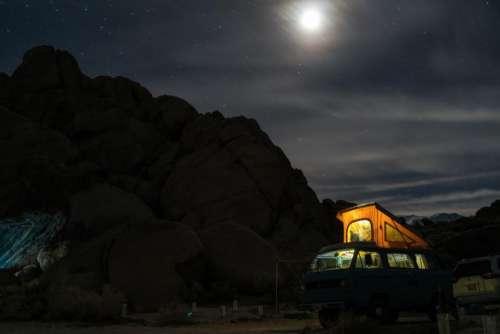 mountain dark night outdoor travel