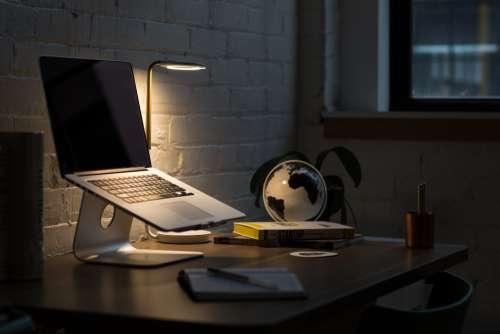 macbook computer desk modern office