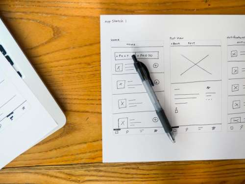 paper pen laptop business work