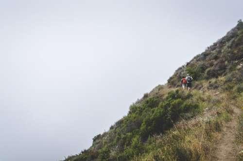 hiking trekking fitness outdoors people