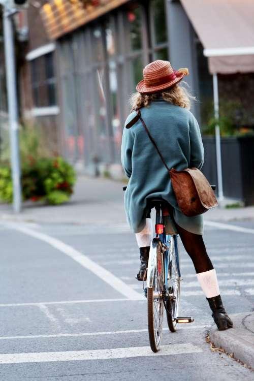 girl woman cyclist bike bicycle