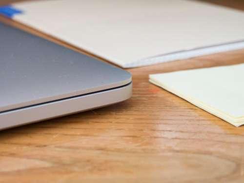 laptop notebook notepad sticky notes office