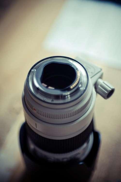 camera lens black silver photography