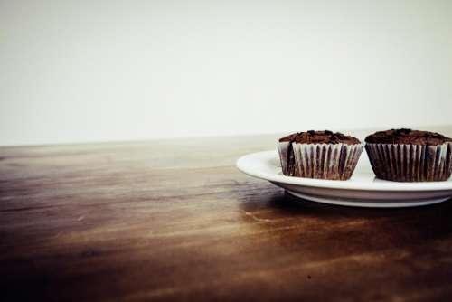 chocolate cupcake food dessert plate
