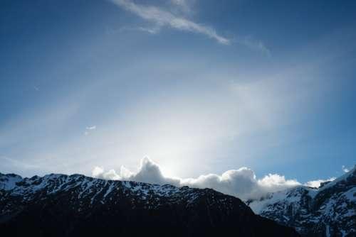 mountains blue sky landscape nature
