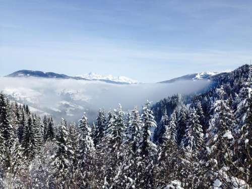 blue sky clouds mountain highland