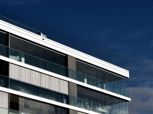 building windows architecture balcony blue