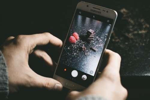 mobile photo chocolate dark raspberry