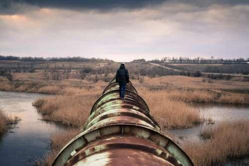 pipe pipeline people man guy