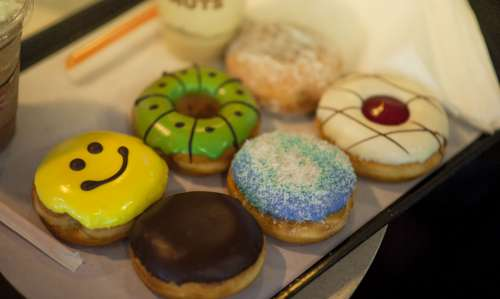 donuts assorted bakery happy smile