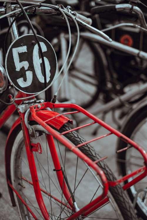 bike bicycle wheel number outdoor
