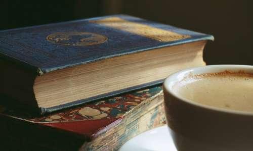 books old books coffee cappuccino drinks