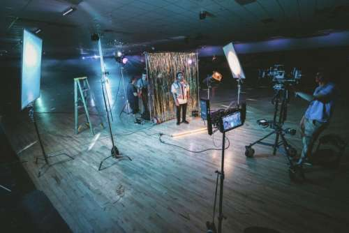 video production shoot record lights