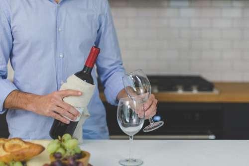 people man wine serve glass