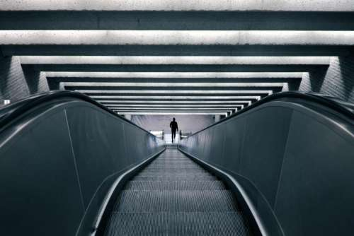 escalator subway metro transportation urban