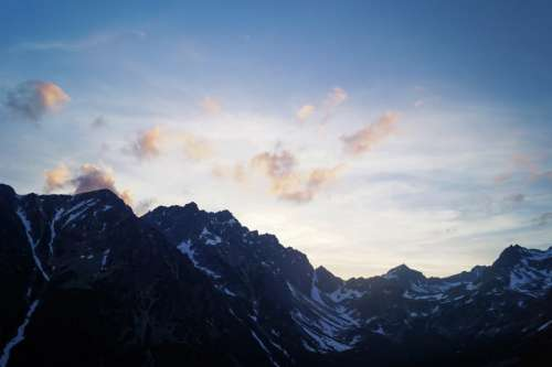 nature landscape mountains snow summit