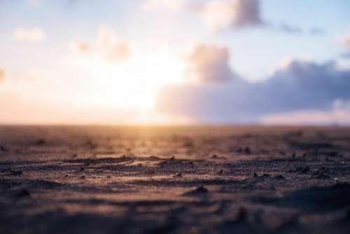sand beach shore horizon blur