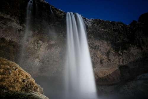 waterfalls hill mountain highland landscape
