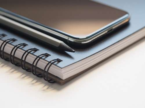 notepad iphone pencil note write