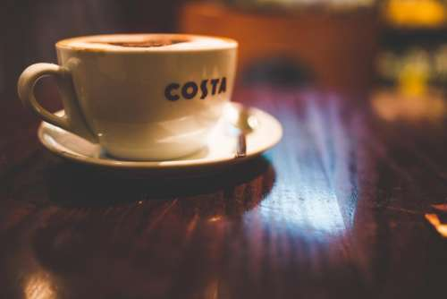 coffee shop costa cup saucer