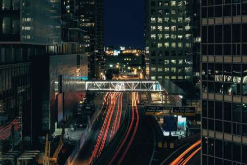 buildings city urban architecture lights