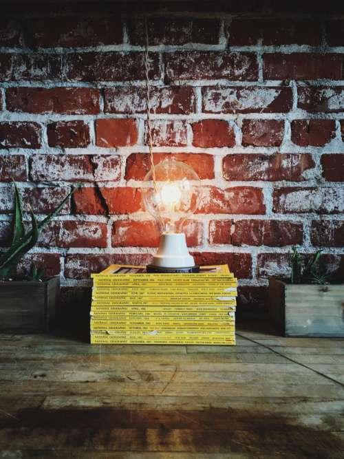 bulb idea bricks red lightbulb