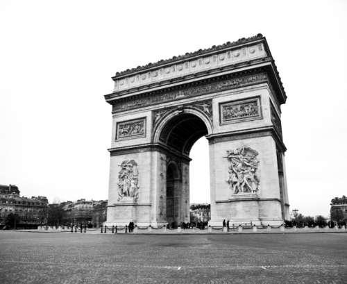 Arc De Triomphe paris black & white city france