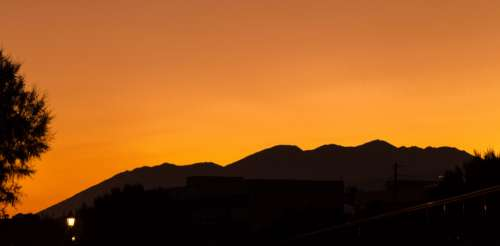 sunset color greece crete orange