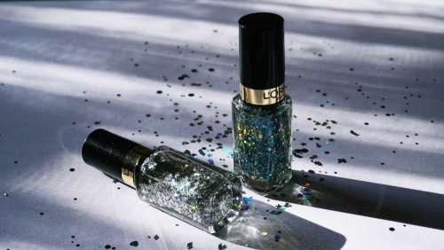 nail polish cosmetics close up feminine glitter