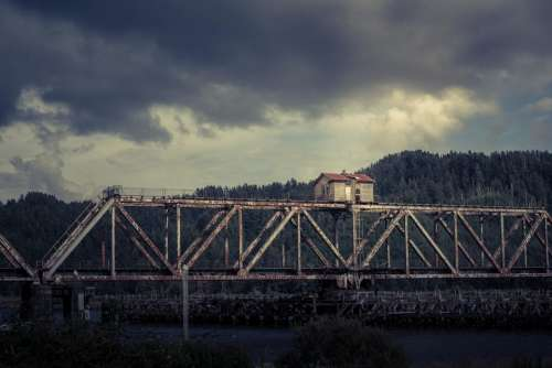 architecture infrastructures bridge old rusty