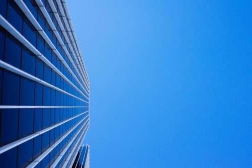 blue sky sunshine building corporate