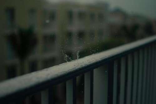 guardrail fence blur dark outdoor