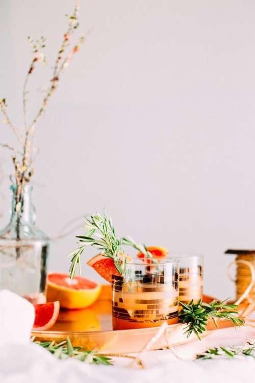 orange fruit healthy food glass