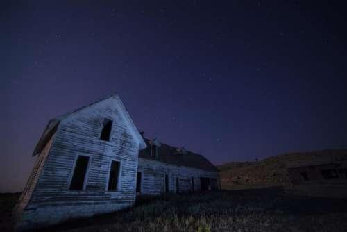 house barn rural countryside field