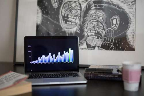 graphs charts finance business macbook