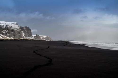 beach sand shore ocean sea