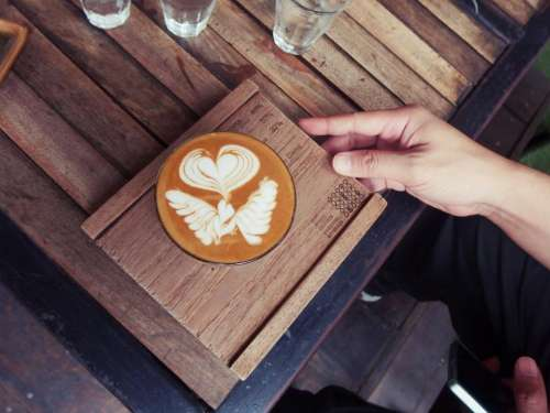 cafe latte espresso coffee art